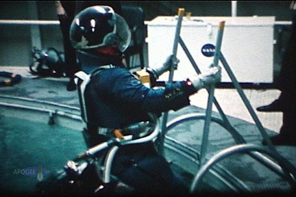 Alan Bean training to ingress the LM