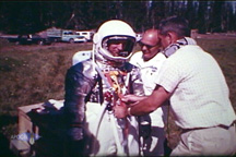 Prototype Spacesuit test. (Oregon 1964)